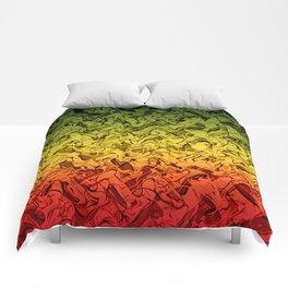 Rasta Fire Comforters