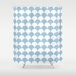 Fan Pattern 321 Pale Blue Shower Curtain