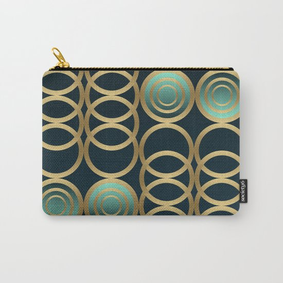 Gold Circles Game Carry-All Pouch