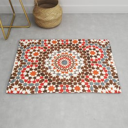 N64 - Traditional Geometric Moroccan Vintage Style Artwork Rug