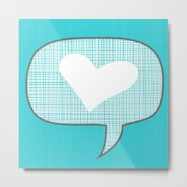 lets talk about love in blue Metal Print
