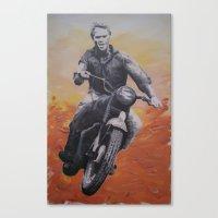 steve mcqueen Canvas Prints featuring Steve McQueen by cocksoupart