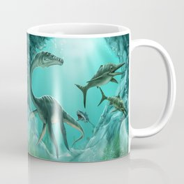 Underwater Dinosaur Coffee Mug