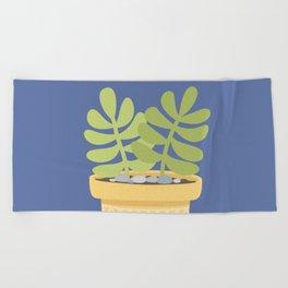 Succulents Plants Cactus Beach Towel