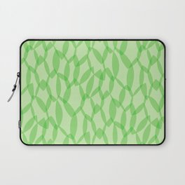 Overlapping Leaves - Light Green Laptop Sleeve