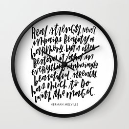 Herman Melville Quote Wall Clock