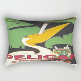 Vintage poster - Pelican Cigarettes Rectangular Pillow