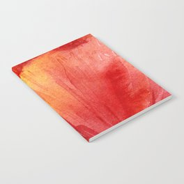 Red Orange Abstract Watercolor Texture, Poppy Flower Notebook