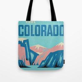 Cool Colorado Retro Vintage Travel Poster Tote Bag