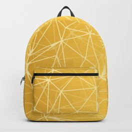 Mosaic Triangles Repeat Seamless Pattern gold Backpack