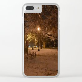 Alone Time Clear iPhone Case