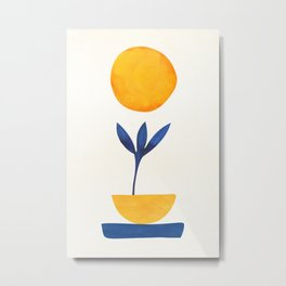 Sunny Sprout / Abstract Shapes Metal Print