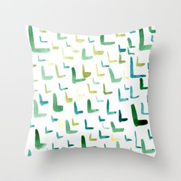 Painted L Throw Pillow