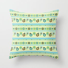 Flowers, spots, stripes & beads Throw Pillow