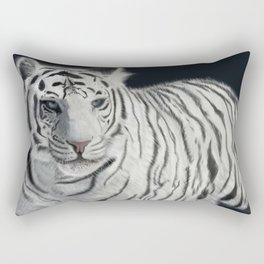 White Bengal Tiger Rectangular Pillow