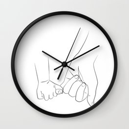 promettre - The dad son promise Wall Clock