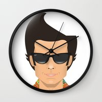 ace Wall Clocks featuring Ace by Capitoni