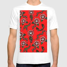BED OF SNAKE ROSES T-shirt