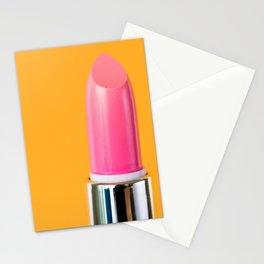 Pink Lipstick Stationery Cards