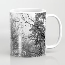 Black and white misty forest Coffee Mug