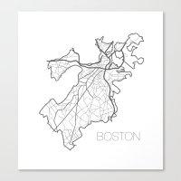 boston Canvas Prints featuring Boston by linnydrez