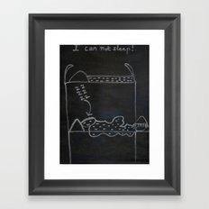 JOE SAYS Framed Art Print