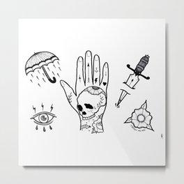 Tattoo Flash Metal Print