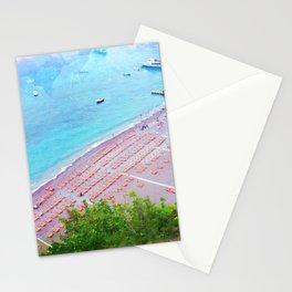 Candy Corn Sunbeds Stationery Cards