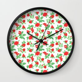 Lingonberry Wall Clock