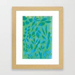 Wonder leaves Framed Art Print