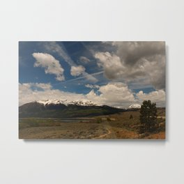Dramatic Sky Over Twin Lakes Colorado Metal Print