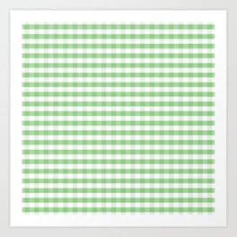 Color of the Year Large Greenery and White Gingham Check Plaid Art Print