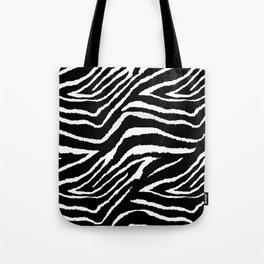 Animal Print Zebra Black and White Tote Bag