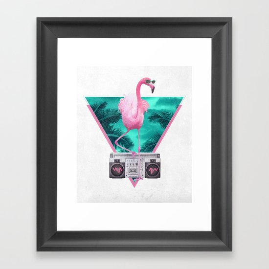 Miami Flamingo Framed Art Print