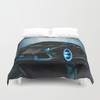sports Duvet Covers featuring sports cars  , sports cars  games, sports cars  blanket, sports cars  duvet cover,  by ira gora