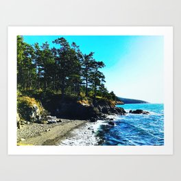 Sunset Beach Fidalgo Island Pacific Northwest Art Print