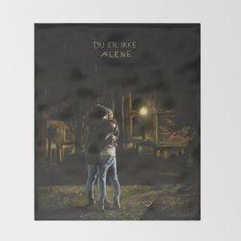 Du er ikke alene Throw Blanket