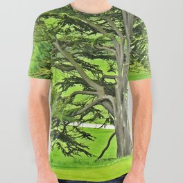 Old English Tree All Over Graphic Tee