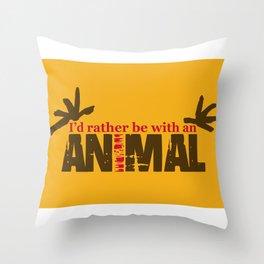 Animal Grunge Jam Throw Pillow