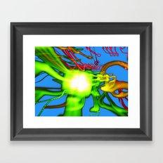 Blue N Green Framed Art Print