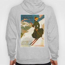 Vintage Chamonix Mont Blanc France Travel Hoody