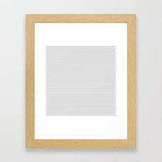 Gray Stripes Pattern Framed Art Print