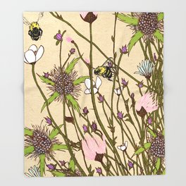 Wild Flowers Part 2 Throw Blanket