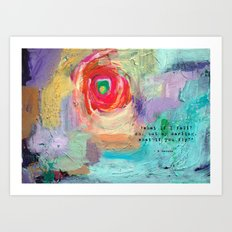 *what if I fall? oh my darling, what if you fly? Art Print