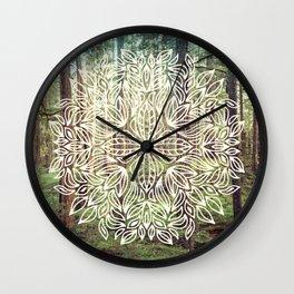 Mandala Vintage Forest Path Wall Clock