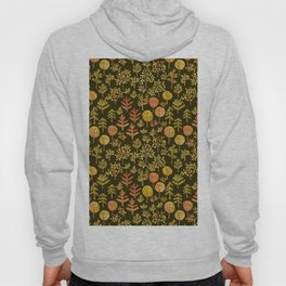 Watercolor autumn forest in doodle style Hoody