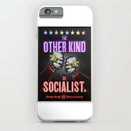 "Vintage ""The Other Kind of Socialist"" Alcoholic Lithograph Advertisement in multi-colors iPhone Case"