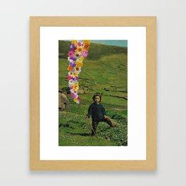 flower boy Framed Art Print