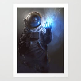 Astronaut Wizard Art Print