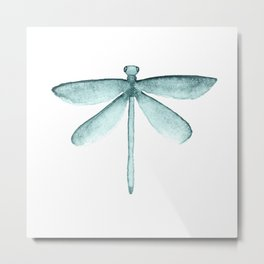 Blue Dragonfly Metal Print